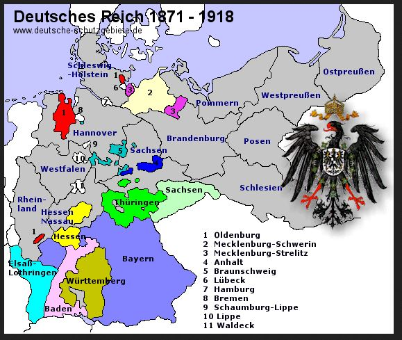 Map Of Germany 1871.Maps 2 German Empire 1871 1918